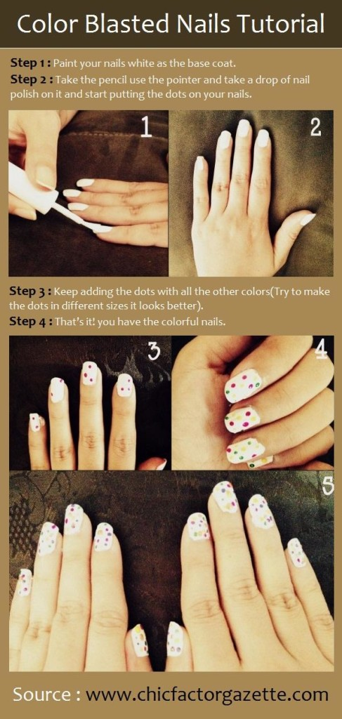 Color Blasted Nails Tutorial