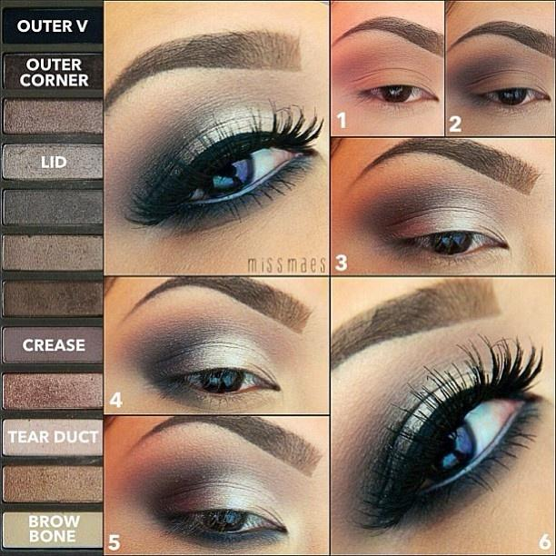 Missmaes shows off the perfect look using Urban Decay Naked 2.