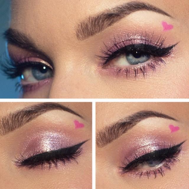 Love this light pink makeup by linda hallberg
