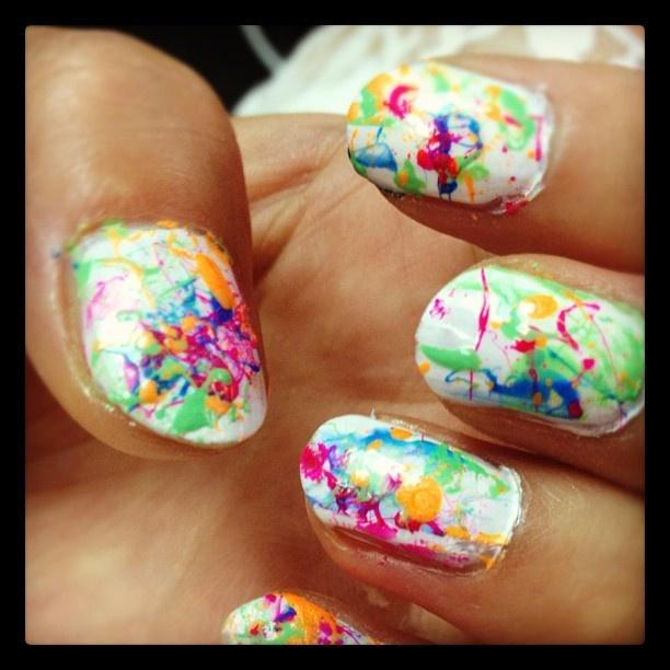 Color Splatter Nails Paint Base Color Dab Nail