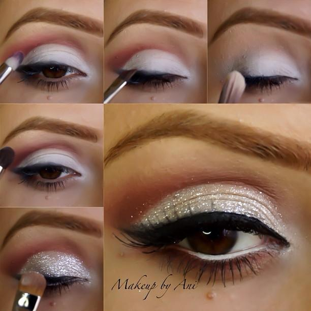 Easy Bridal Makeup Steps : Glitter Makeup 5 Steps