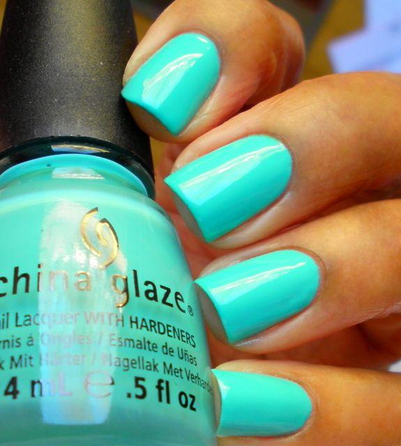 Tiffany blue nails, next pedi!!