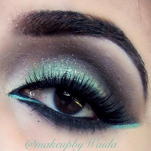pale green glitter