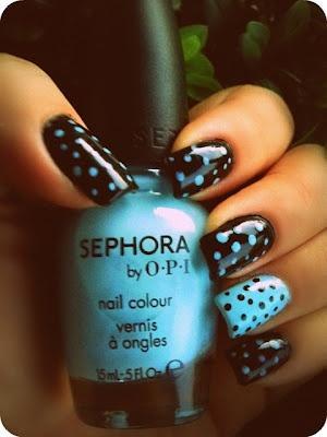 Black and Blue Polka Dots