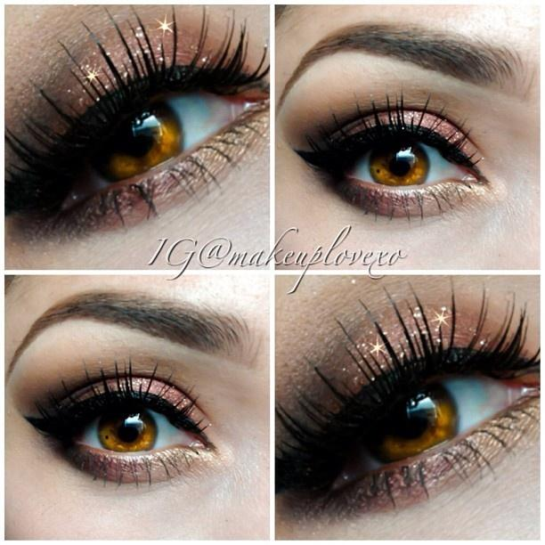 Bronze Glitter eyes @ makeuplovexo