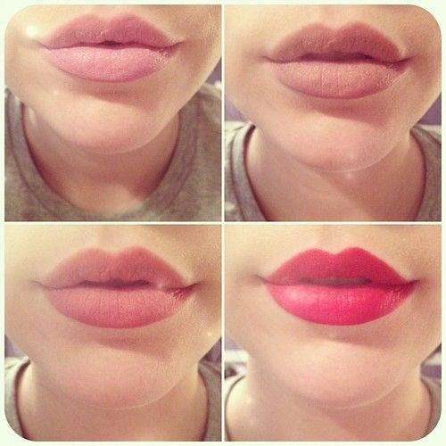 Lip shades for Labios mate paso a paso