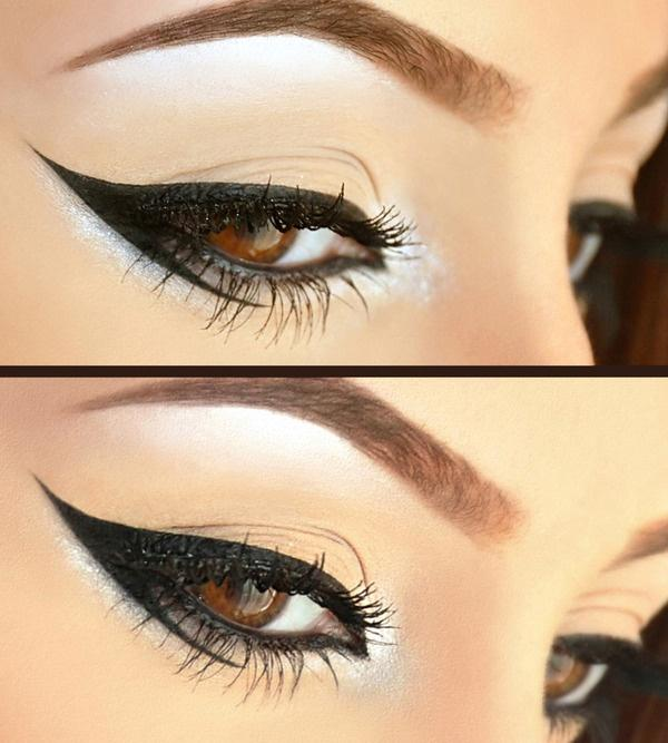 Graphic Eyeliner dramatic neutral makeup