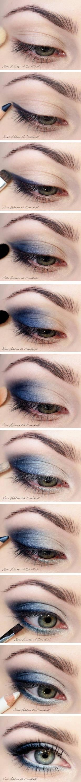 Perfect the perfect #smokyeye with the new blue #eyeshadow trend!