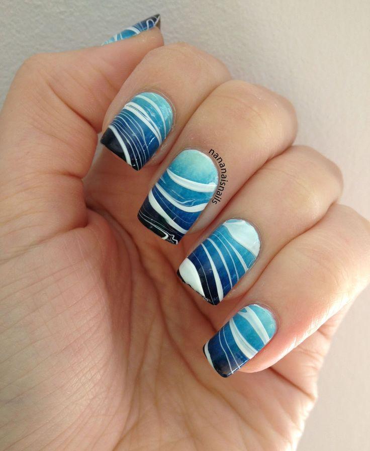 blue gradent watermarble