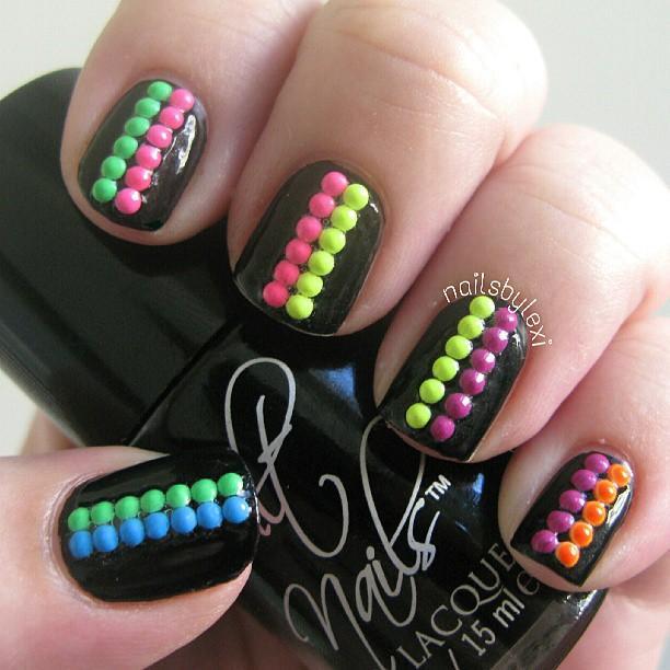 neon studs