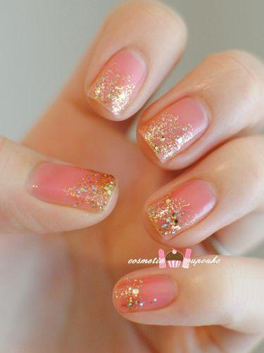 pink and gold graiden tnail art from cosmetic cupcake