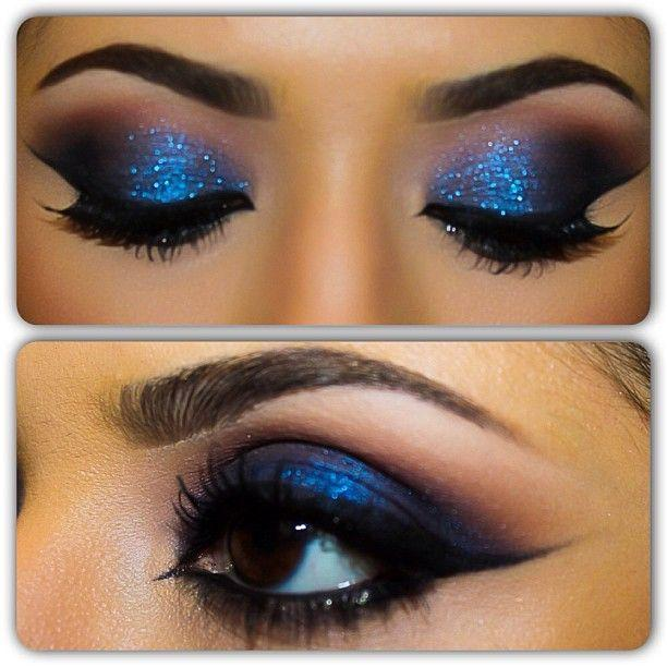 The Gallery For --u0026gt; Blue Smokey Eye Makeup