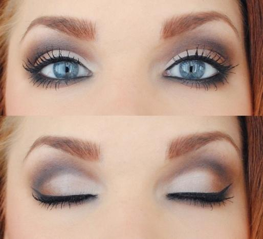 Winter eye makeup