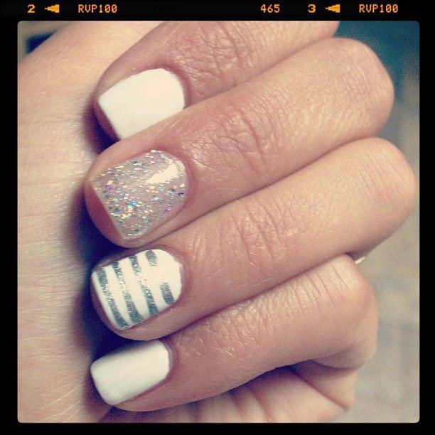Silver & white nai...