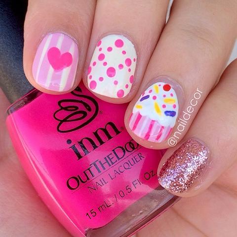 Cupcake nail art cupcake nail art nails prinsesfo Image collections