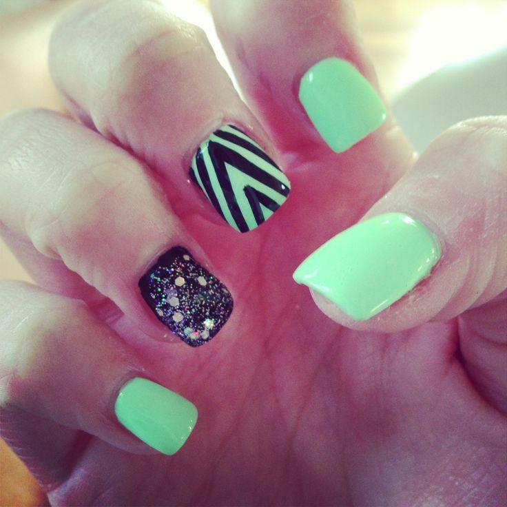 Cute Mint Nails