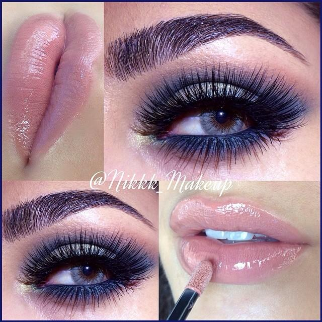 smokey eye & nude lip