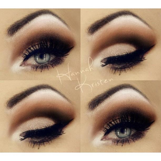 Dark Brown Smokey eye