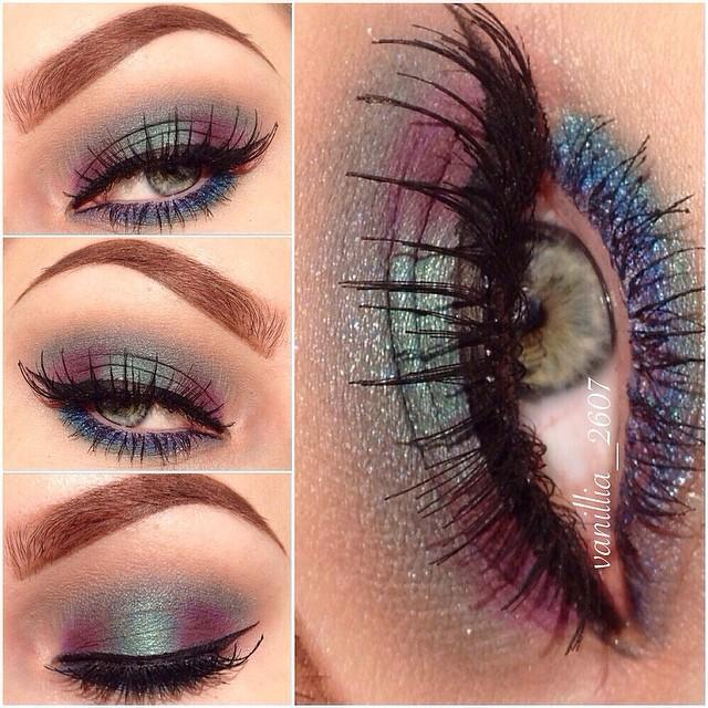 A Look That Shines | Peacock Eye Makeup | Trends-Style