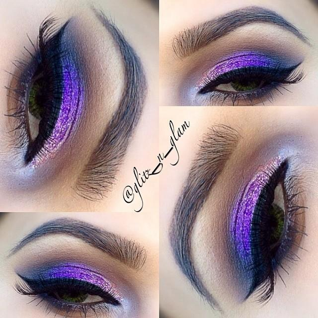 Purple Glitter Smokey Eye