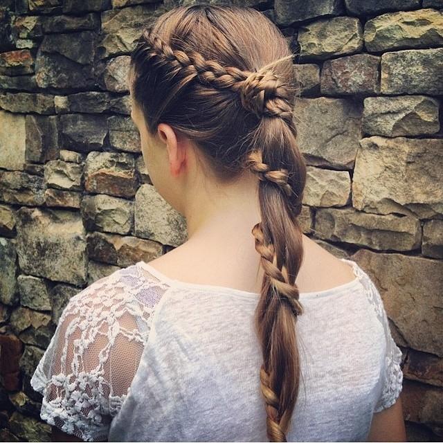 Sensational Lace Carousel Braid Short Hairstyles Gunalazisus
