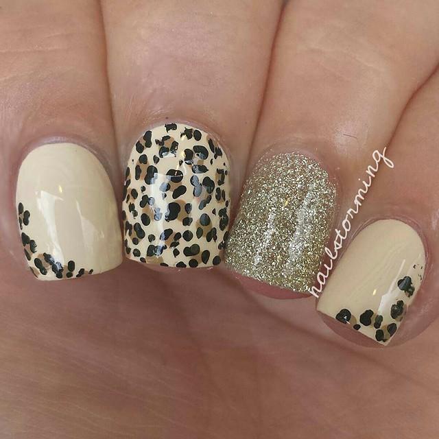 leopard print & gold