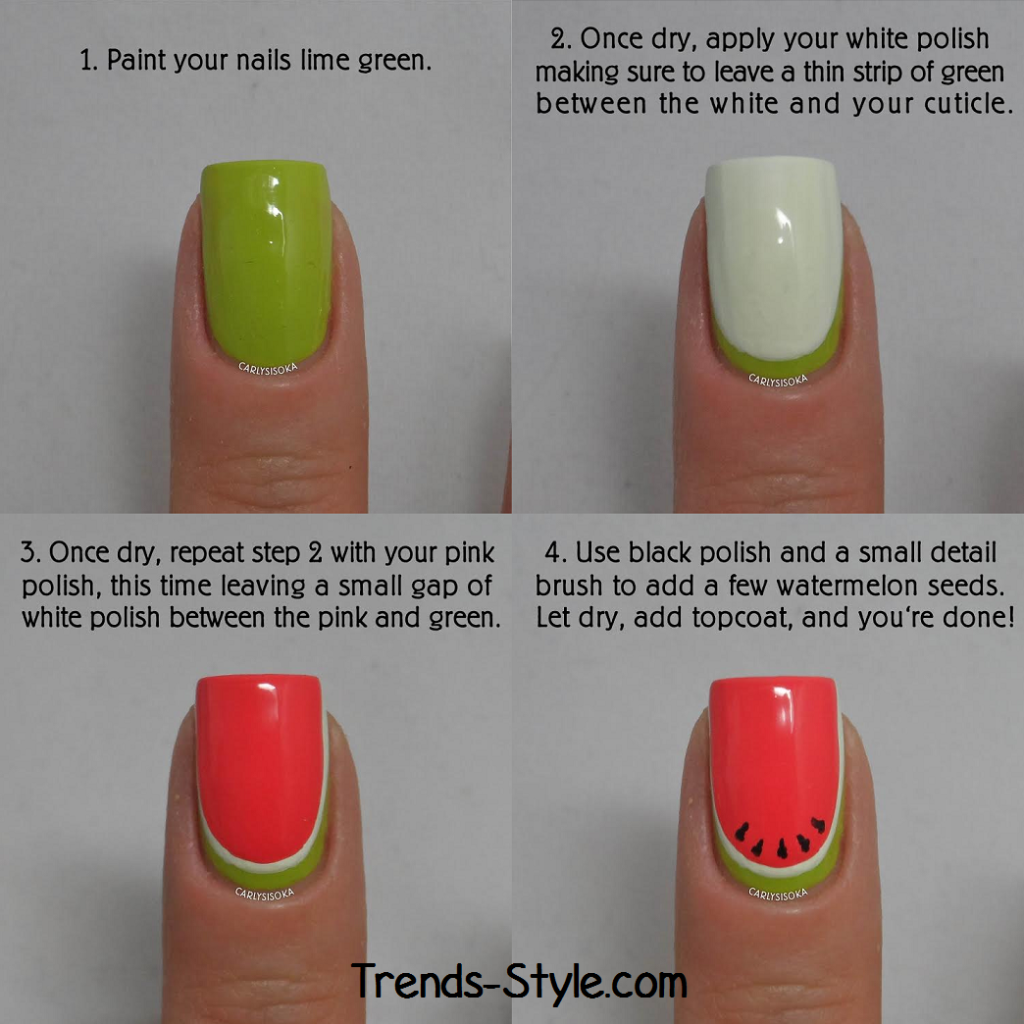 Watermelon Nails Tutorial