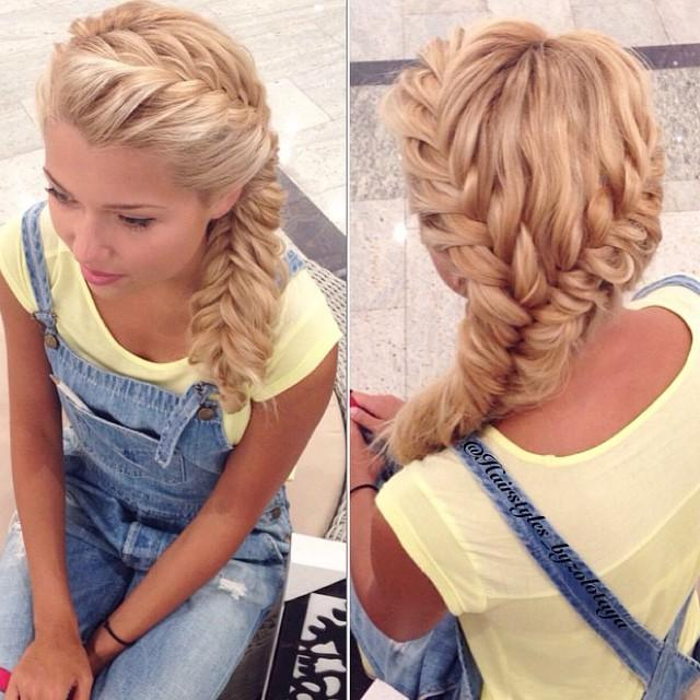 Прически на длинные волосы своими руками косы фото