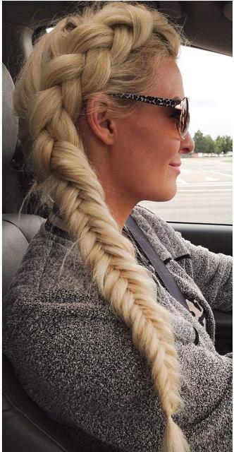 Thick blonde Dutch side braid from hairspirationbykylee.: http://trends-style.com/side-dutch-braid-2/