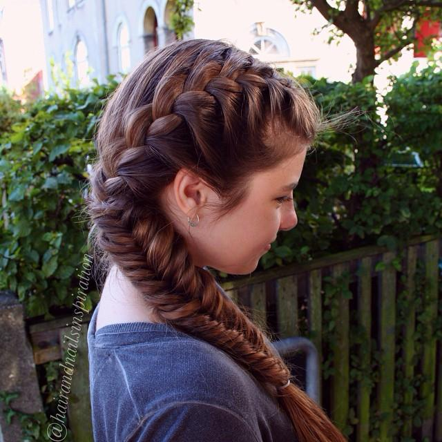 Side french fishtail french braid ccuart Images
