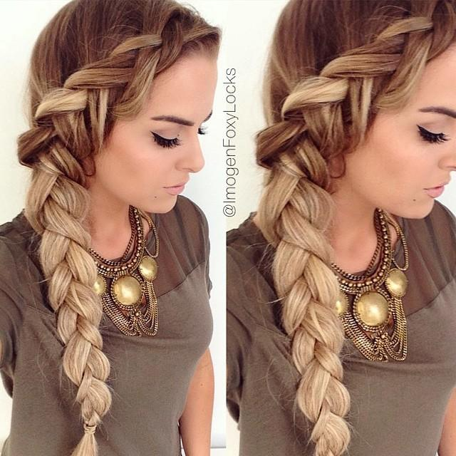 Hairstyles Braided To The Side : Such a lovely side dutch braid hairstyle from the very beautiful ...