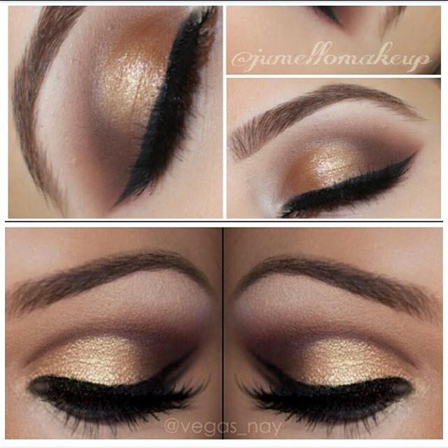 Soft Gold Smokey Eye