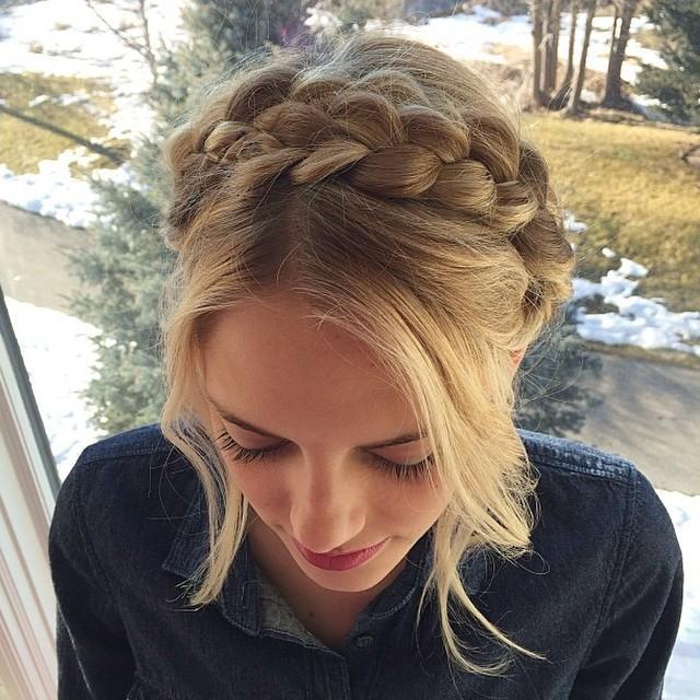 Beautiful blonde milkmaid braid from hairbymarissasue