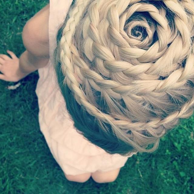 spiral crownbraid