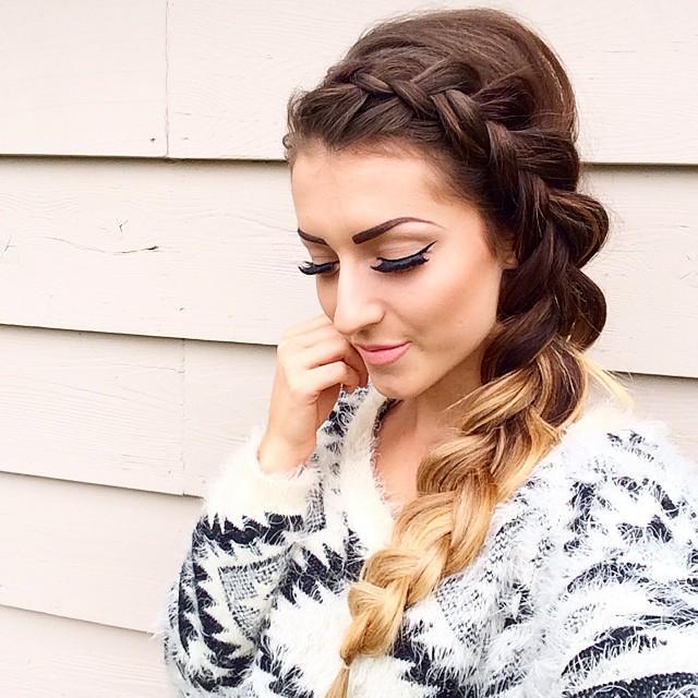 dutch braid & sweater