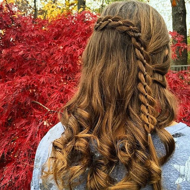 lace braid curls