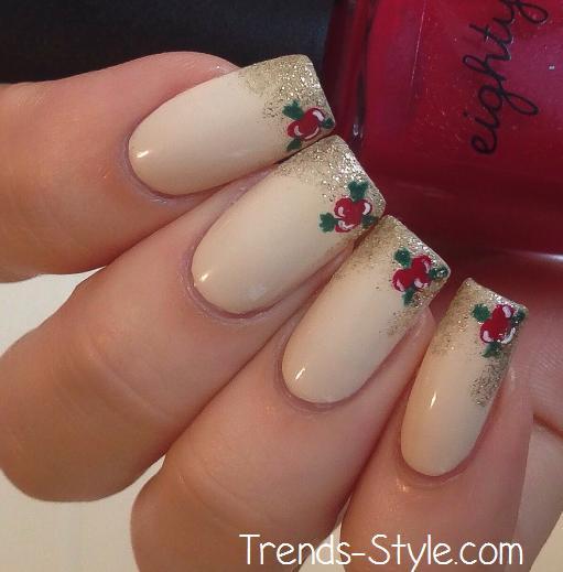 Easy Christmas Nail Art Designs Tutorial: Holiday Nail Art Tutorial