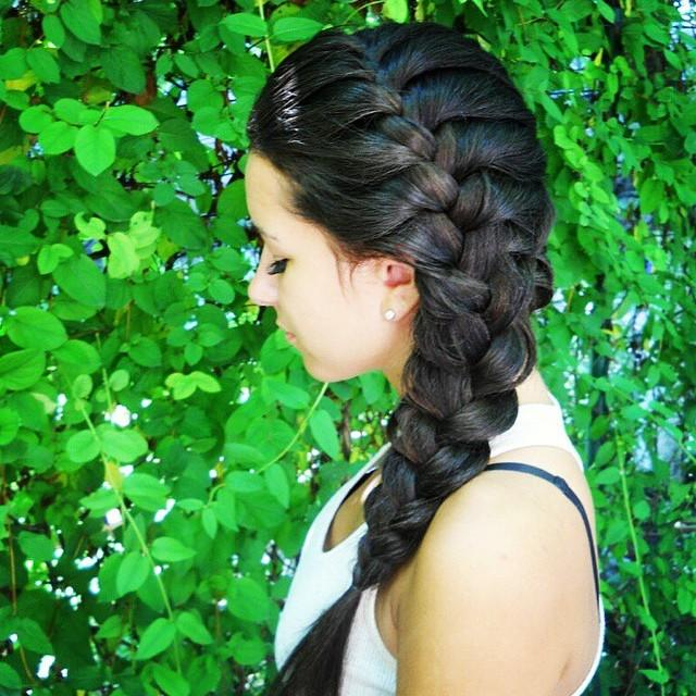 Lovely Side French Braid