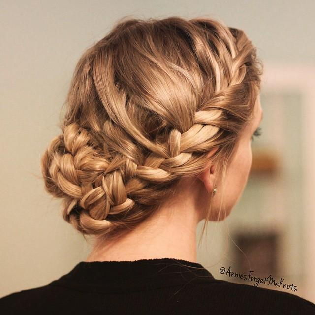 Loose french braid bun loose french braid bun ccuart Images