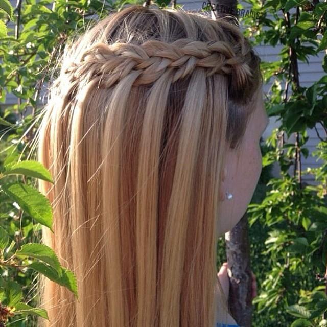 micro waterfall braid