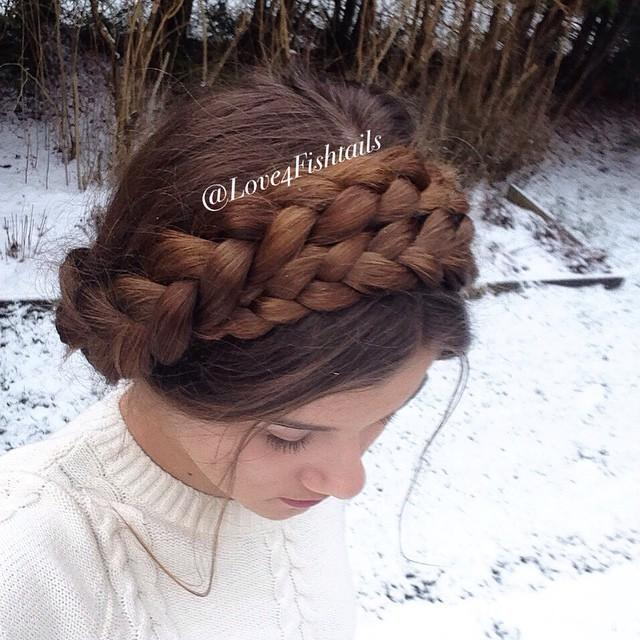 milkmaid crown braids