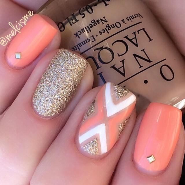 nail design - Tape Design Mani