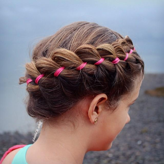 ribbon crown braid