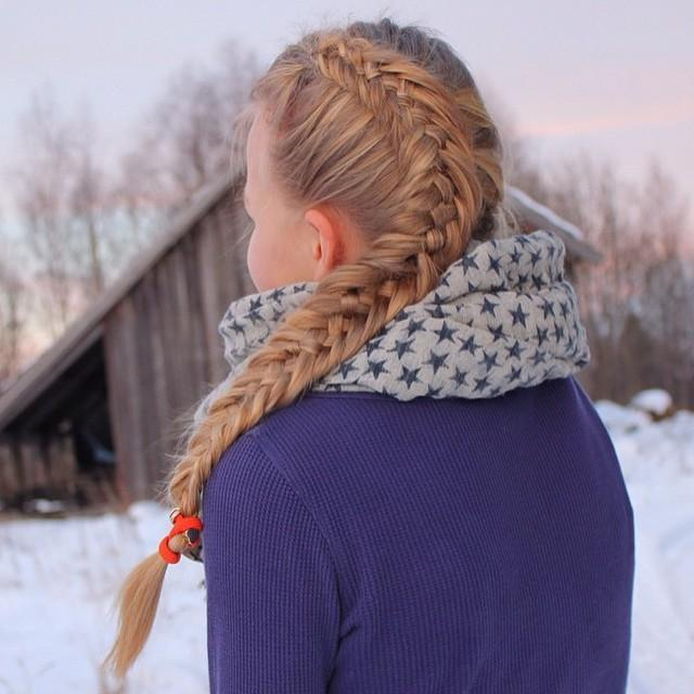 woven Dutch fishtail