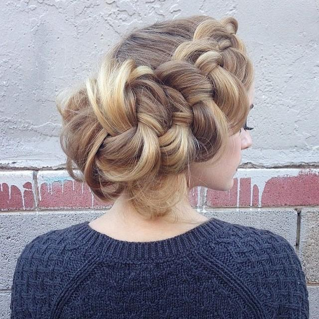 lovely braid updo