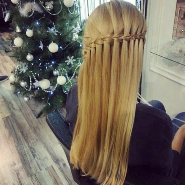 scissor waterfall braid