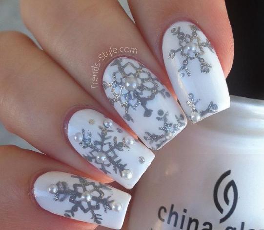 Snowflake nail art designs best nails art ideas prinsesfo Images