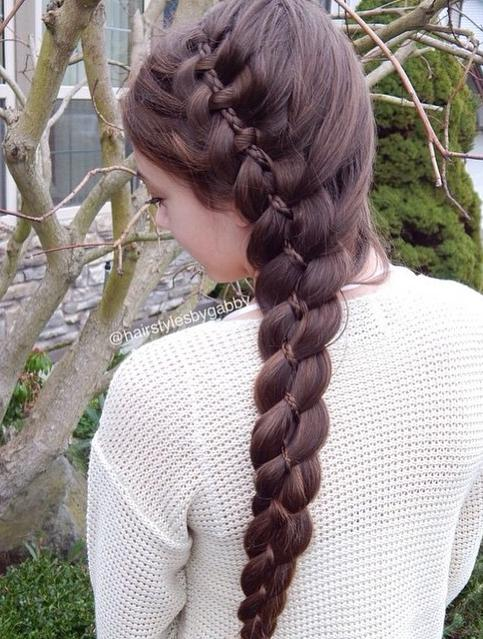 Four strand French braid