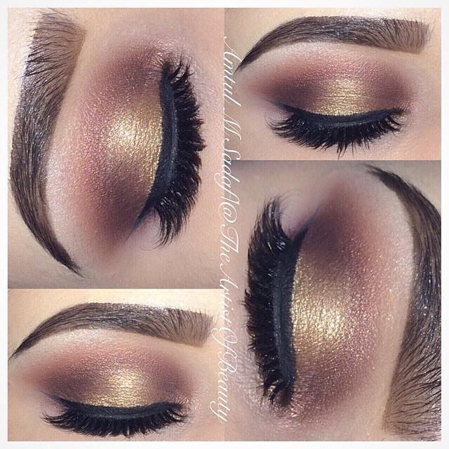 This soft gold look is just what we're looking for theartistofbeauty