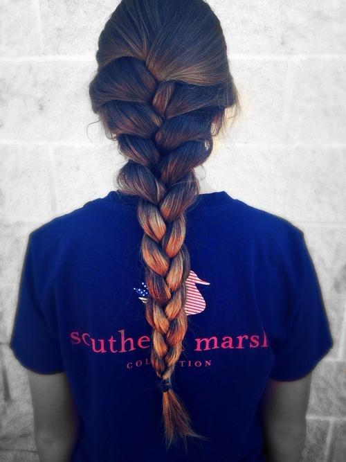 ombre braided